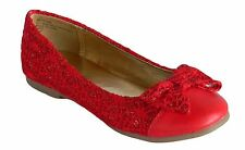 New Girls Red Dress Shoes Flats Kids Youth Easter Christmas Wedding Mary Jane