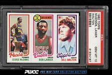 1980 Topps Basketball Bill Walton George McGinnis Lanier PSA 10 GEM MINT (PWCC)