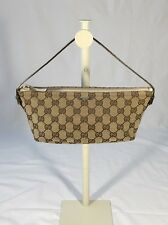 Gucci Monogram Canvas Accessory Pouch Bag Tan Cream $350