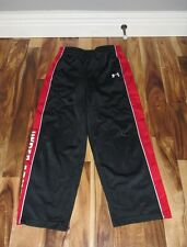 UNDER ARMOUR BOYS' LOGO UA ATHLETIC PANTS BLACK RED SIZE 6 VGC