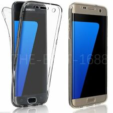 Shockproof 360° Protective Clear 2 in 1 Case Cover For Samsung Galaxy S7 Edge S8