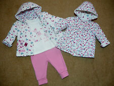 Baby Girls Disney BAMBI Reversible Coat Jacket Top Trousers Outfit 0-3-6 months
