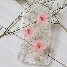 Pressed Flowers for iphone 5 5s 5c 6 6s 7 plus Samsung case cover pink