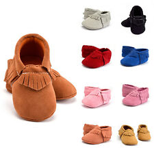 Kid Boy Girl Baby Shoes Infant Toddler Tassel Soft sole Round toe prewalker Warm