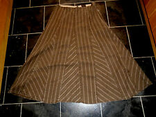 Ladies  Per Una Marks & Spencer long brown cotton skirt size 16