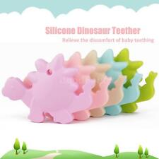 Kids Baby Silicone Food Grade Dinosaur Necklace Teether Teething Chew Toy B0X4