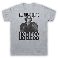 ALL ART IS USELESS OSCAR WILDE UNOFFICIAL T-SHIRT MENS LADIES KIDS SIZES & COLS