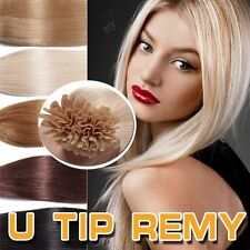 200Strands Pre Bonded U Nail Tip 100% Real Remy human hair extensions US II007