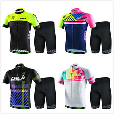 CHEJI Cycling Clothing Jersey Set New Sport Team Bike Bicycle Bib Shorts 4Colors