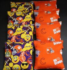 EMOJI CLEMSON University Tigers CORNHOLE BEAN BAGS 8 ACA Regulation baggo