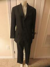 MENS BROOKS BROTHER BLACK PINSTRIPED 100%WOOL SUIT - SIZE 40 R