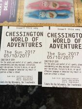 CHESSINGTON WORLD OF ADVENTURES TICKETS 5TH OCTOBER X 4