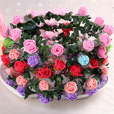 Girls Women Rose Flower Crown Headband Wreath Party Wedding Garland Headwear 0hk