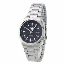 Seiko Black 5 Automatic Mens Analog Casual Silver Watch SNK571J1 SNK579J1