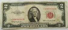 1953-C $2.00 *STAR* United States Note Red Seal U.S. Two Dollar Bill - ink