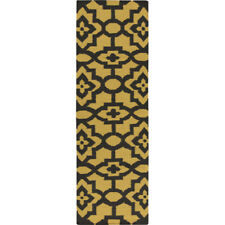 Candice Olson Rugs Market Place Gold/Black Area Rug