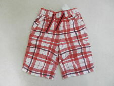 BNWT Next Boys Check White & Red Shorts Age 6 Years Elasticated Waist Chequered