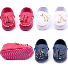 Baby Kid Soft Sole Crib Suede/Leather Shoes Boy Girl Anti-Slip Canvas 0-18M Cute