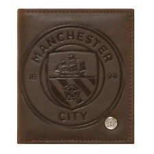 Manchester City FC Official Soccer Gift Luxury Brown Faux Leather Wallet