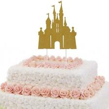Pack of 10pcs Glitter Castle Cupcake Picks Cake Toppers Party Decoration