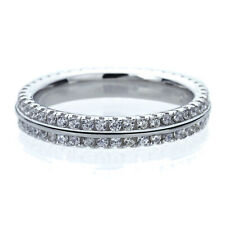 3.5MM Sterling Silver Wedding Ring Round CZ Eternity Ring Wedding Band