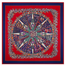 "New Arrival Women's Fashion Compass Printed Silk Square Scarf 51""*51"""