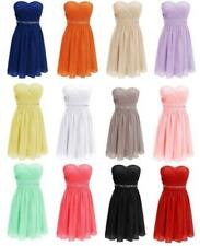 Short Cocktail Homecoming Dress Beads Sash Party Prom Formal Bridesmaid Gown V54