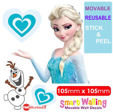 Frozen Elsa Olaf Wall Sticker Decor Movable Removable Decal Reusable Kids Room