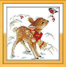 Cross Stitch Kit 11CT Printed and Unprinted Hand Embroidery Pattern of Deerlet