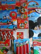 MICKEY MOUSE CLUBHOUSE Birthday Party Range (Tableware, Stickers & Decorations)