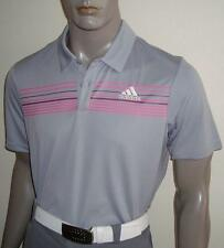 (GRP) 2017 Adidas Tour Logo Climacool Chest Print Golf Polo Shirt $65 (Pink)