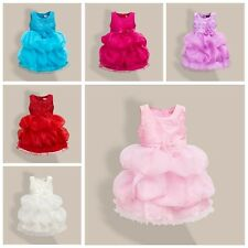Kids Girls Flower Bridal Pageant Party Prom Occasion Dropped Wedding Dress Gown1