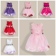 Kids Girls Flower Bridal Pageant Party Prom Occasion Dropped Wedding Dress Gown2