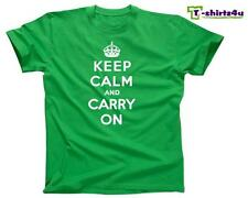 KEEP CALM CARRY ON Chive Chivery KCCO British Meme War Poster T-Shirt NEW Green