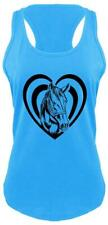 Horse Heart Ladies Tank Top Love Horse Graphic Country Cowgirl Gift Racerback Z6