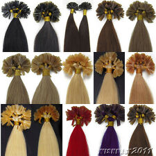 Pre-Bonded Keratin Nail Tip U Tip Brazilian Remy Human Hair Extensions Straight