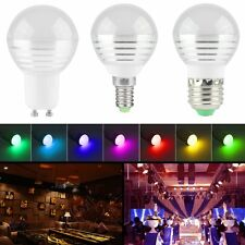 E27/E14/GU10 3W RGB LED Light Bulb Color Changing with Remote Control Lamp Bulb