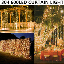 6*3M/600LED Outdoor Holiday Christmas Wedding Party Fairy String Curtain Lights