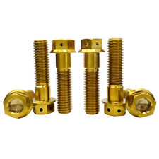 M8X25mm Titanium Ti Alloy Flange Hex Head Hole M8 Bolts Socket Screws 3Colors