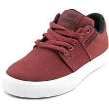 Supra Stacks Vulc II Youth  Round Toe Canvas Burgundy Sneakers