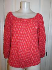 NWT WOMENS BILLABONG RED OFF THE SHOULDER SHIRT SIZE LARGE