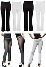 Sexy Women See Through Trousers Long Pant Leggings Transparent Skinny Tighs M XL