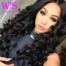 Yaki Straight Human Hair Lace Front Wig For Black Womens Ladies Real Thick 130%