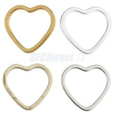 20pcs Alloy Heart Shape Pendants Charms Earrings Findings for DIY Jewelry Making