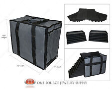 Medium Jewelry Carrying Case Salesman Black Travel Case & Jewelry Trays & Liners