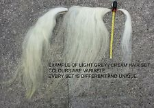 HAIR SET for rocking horse, mane, tail, horse hair on hide, many colours & sizes