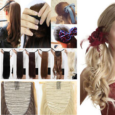 100% Real New Clip In Hair Extension Pony Tail Binding Ponytail Long as human H2