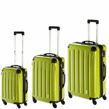 INVIDA Hard Shell Trolley/Suitcase AYLA in green with TSA Lock in various