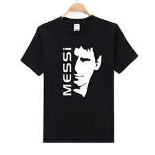 Men's Sports Casual T-shirt Soccer Player Messi's Black And White Portrait