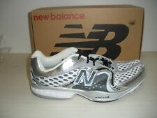 NEW BALANCE MENS MR805WS RUNNING SHOES - D WIDTH- MADE IN USA-WHITE/SILVER/BLACK